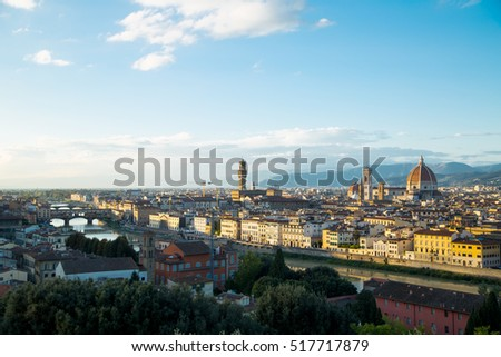 Florence duomo landmark cathedral building city in Italy.