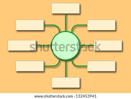 flowchart shows business structure - stock photo