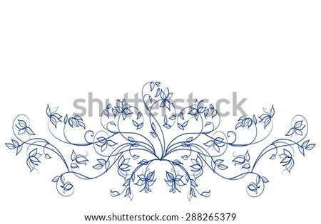 Flower background for design with a tulip - stock photo