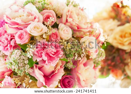 flower bouquet for decorate - stock photo