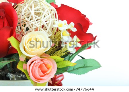 flower invents on white background