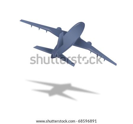 flying Air plane illustration - stock photo