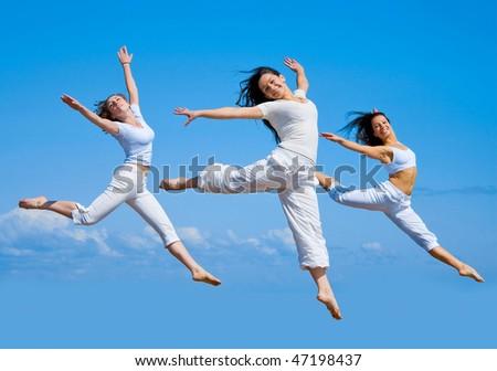 3 Flying us - stock photo