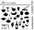 26 Food icons - stock vector