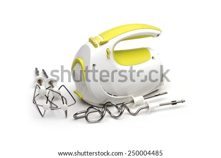 food processor on the white background - stock photo