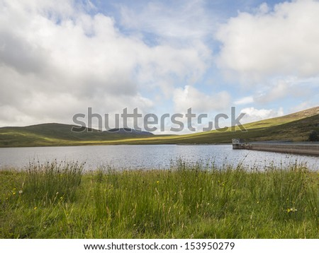 foot of sleive Binnian in the mourne mountains north ireland - stock photo