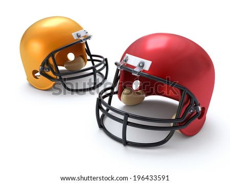 Football Helmets - stock photo