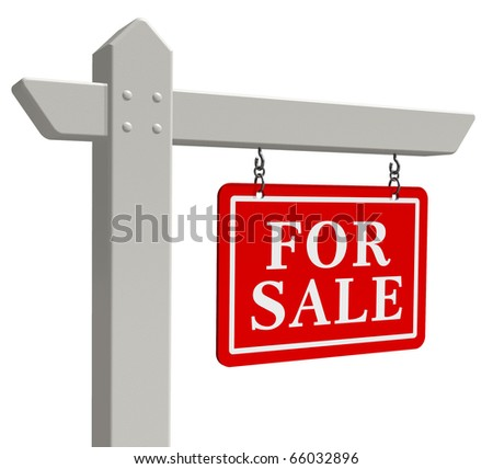 """For sale"" real estate sign - stock photo"