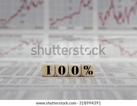 100% for success in life and business - stock photo