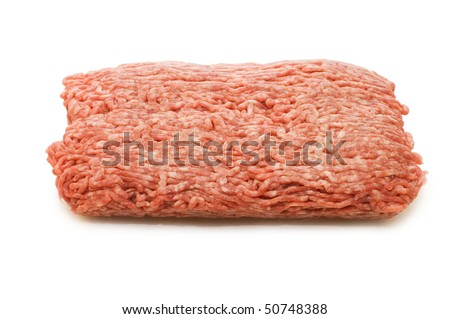 Forcemeat  isolated on white background