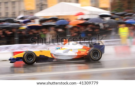 Formula One (F1) races down the streets - stock photo