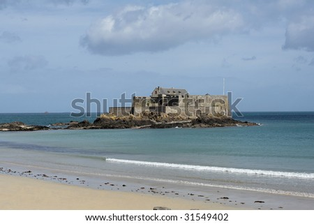 """""""Fort National"""" (formerly Fort Royal) in Saint Malo, France. II - stock photo"""