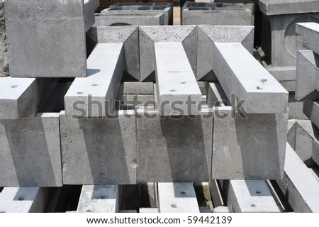 foundation pile - stock photo