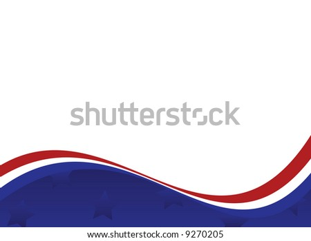 * Fourth of July Patriotic Background - stock photo