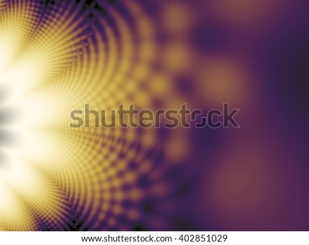 Fractal artwork for creative design. Abstract wavy background. - stock photo