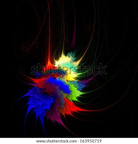 Fractal flames and abstract elements�  - stock photo