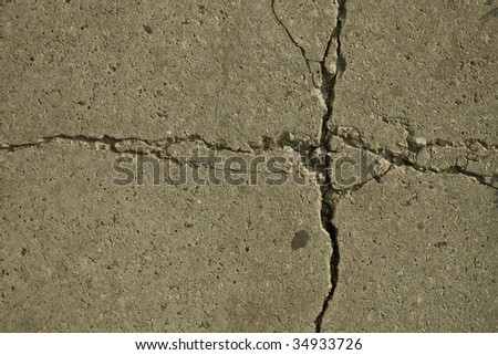 fragment patterns, cracks in concrete slabs - stock photo