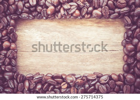 frame made of coffe with filter effect retro vintage style - stock photo