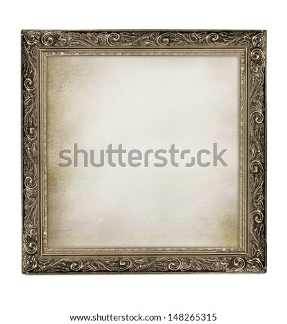 frame with empty grunge canvas for your picture - stock photo