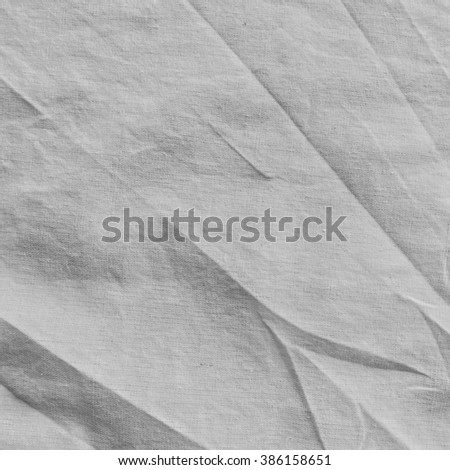 fabric sheet texture. free form on white light gray cotton fabric sheet background texture