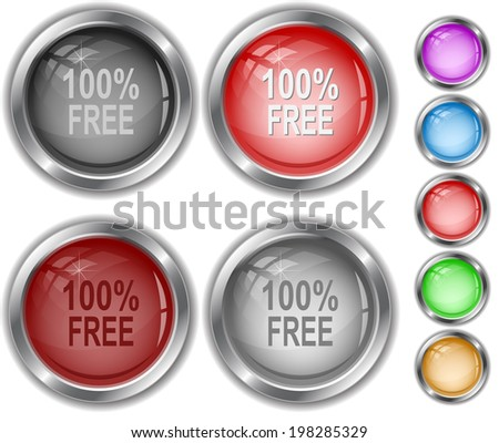 100% free. Raster internet buttons.  - stock photo