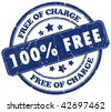100 free stamp - stock photo