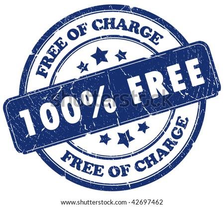100 free stamp - stock photo