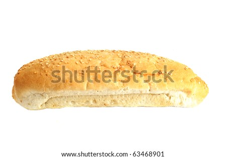 Fresh bread, isolated on the white background
