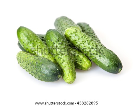 Fresh cucumbers on a kitchen table