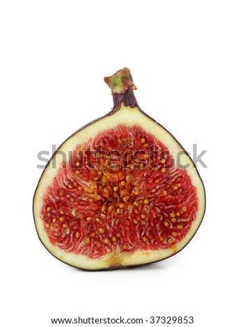 Fresh fig isolated on white background - stock photo