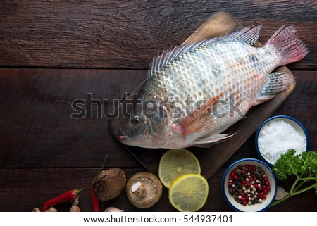 Tilapia fish stock images royalty free images vectors for Aromatic herb for fish