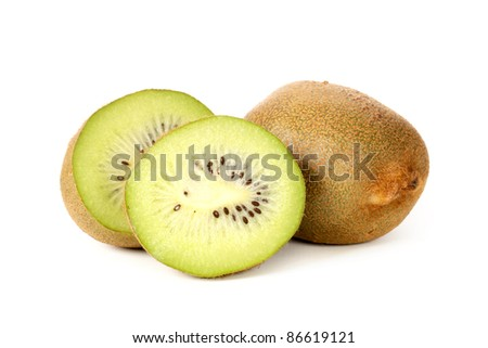 fresh juicy kiwi on white background