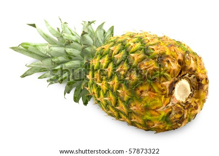 fresh pineapple isolated on a white background