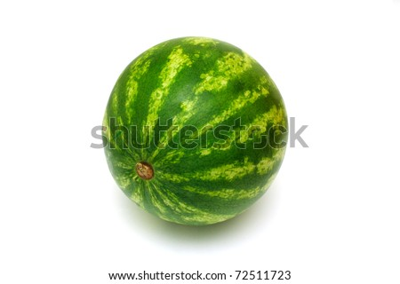fresh water melon isolated on white background - stock photo