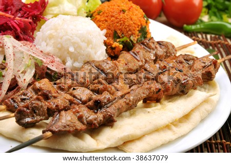 Freshly grilled Shish Kebabs