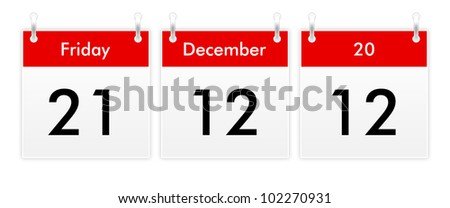 21.12.12 - Friday 21 December 2012 - The end of the world - stock photo