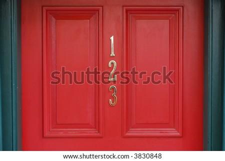 123 Front Door - stock photo