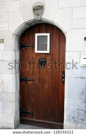 """front door-house-city-architecture"" - stock photo"