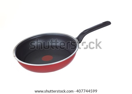 frying pan isolated - stock photo