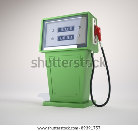 Fuel pump. This is a 3d render illustration - stock photo