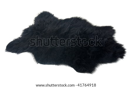 fur carpet over white background - stock photo