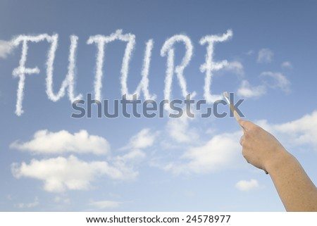 """""""future"""" message in the sky - stock photo"""
