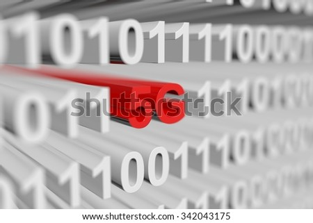 5G is presented in the form of a binary code with blurred background - stock photo