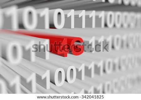 4G is presented in the form of binary code - stock photo