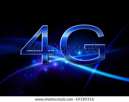 4G Smart phone display - stock photo