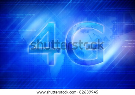 4G Smart phone display - stock photo