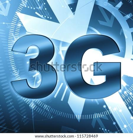 3G  wallpaper - stock photo