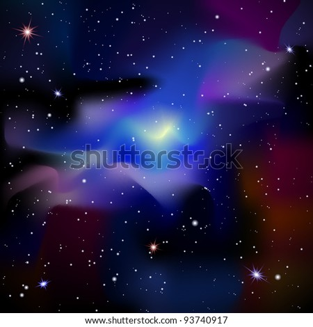 Galaxy.Space background.Raster version - stock photo