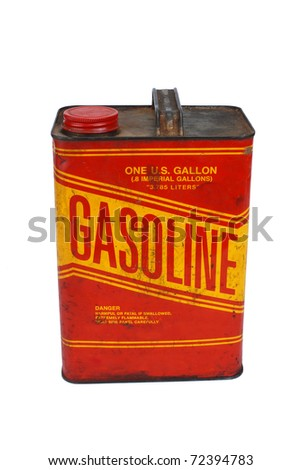 1 gallon gas can with cap on pour spout - stock photo