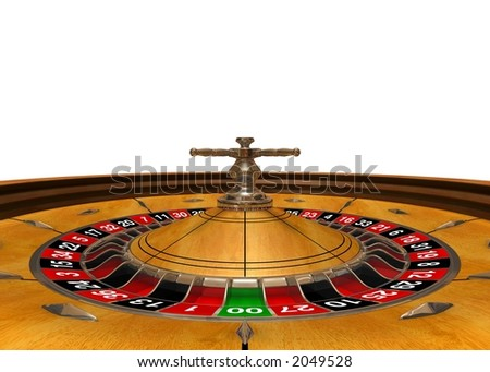 """Gambling arena"" (3D rendered roulette, wide angle, view inside)"